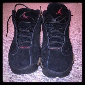 Jordan retro 13 olive and black